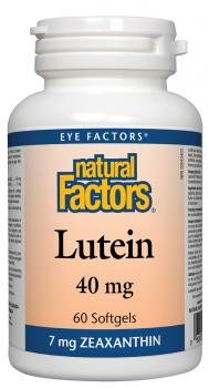Natural Factors - Lutein 40mg, Natural Antioxidant to Support Eye Health, 60 Soft Gels