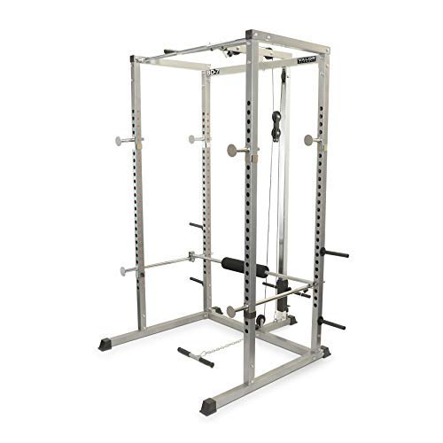 Valor Fitness BD-7 Power Rack with LAT Pull Attachment & Pull Up Station