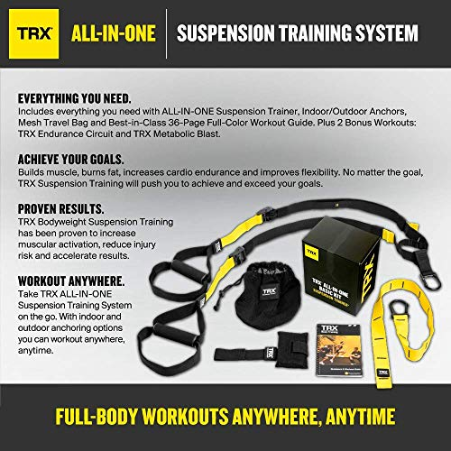 TRX Training - Basic Kit + Door Anchor, Complete Full Body Workouts Kit for Home and on the Road