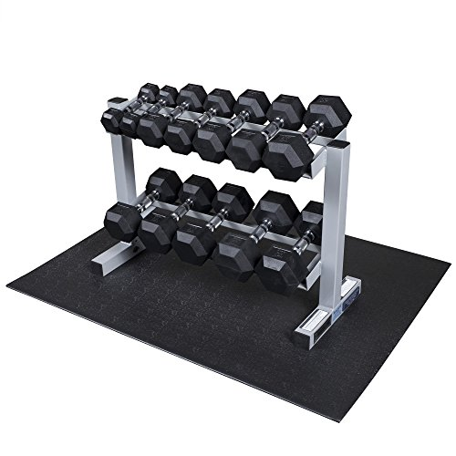 Powerline PDR282X-RFWS Rubber Dumbbell Weight Set