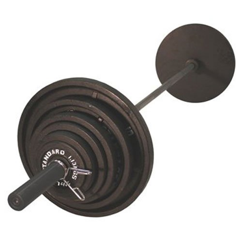USA Sports Olympic Black Weight Set with Black Bar