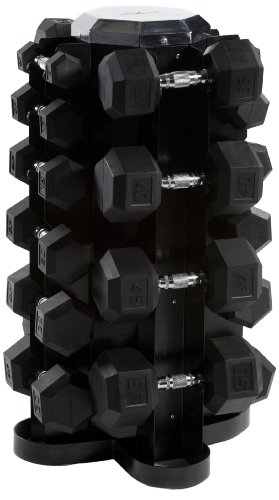 CAP Barbell Rubber Hex Dumbbell Set, 550-Pound