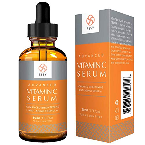 Essy Advanced vitamin C serum with natural Antioxidant for fine lines and wrinkles Firm and Youthful formula - 1 fl oz
