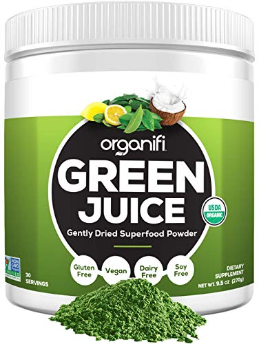 Organifi: Green Juice - Organic Superfood Supplement Powder - 30 Day Supply - Organic Vegan Greens - Hydrates and Revitalizes - Boost Immune System - Support Relaxation and Sleep