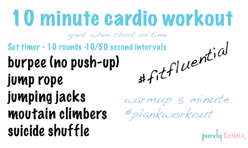 best 10 minute cardio workouts at home for quick fat burning