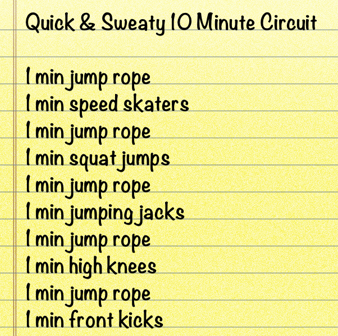 quick 10 minute circuit