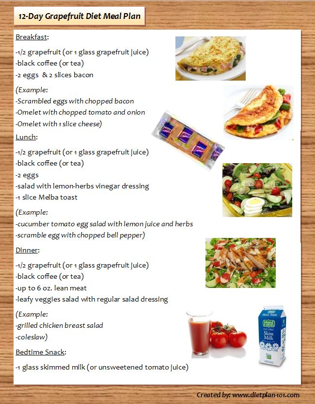 grapefruit diet meal plan