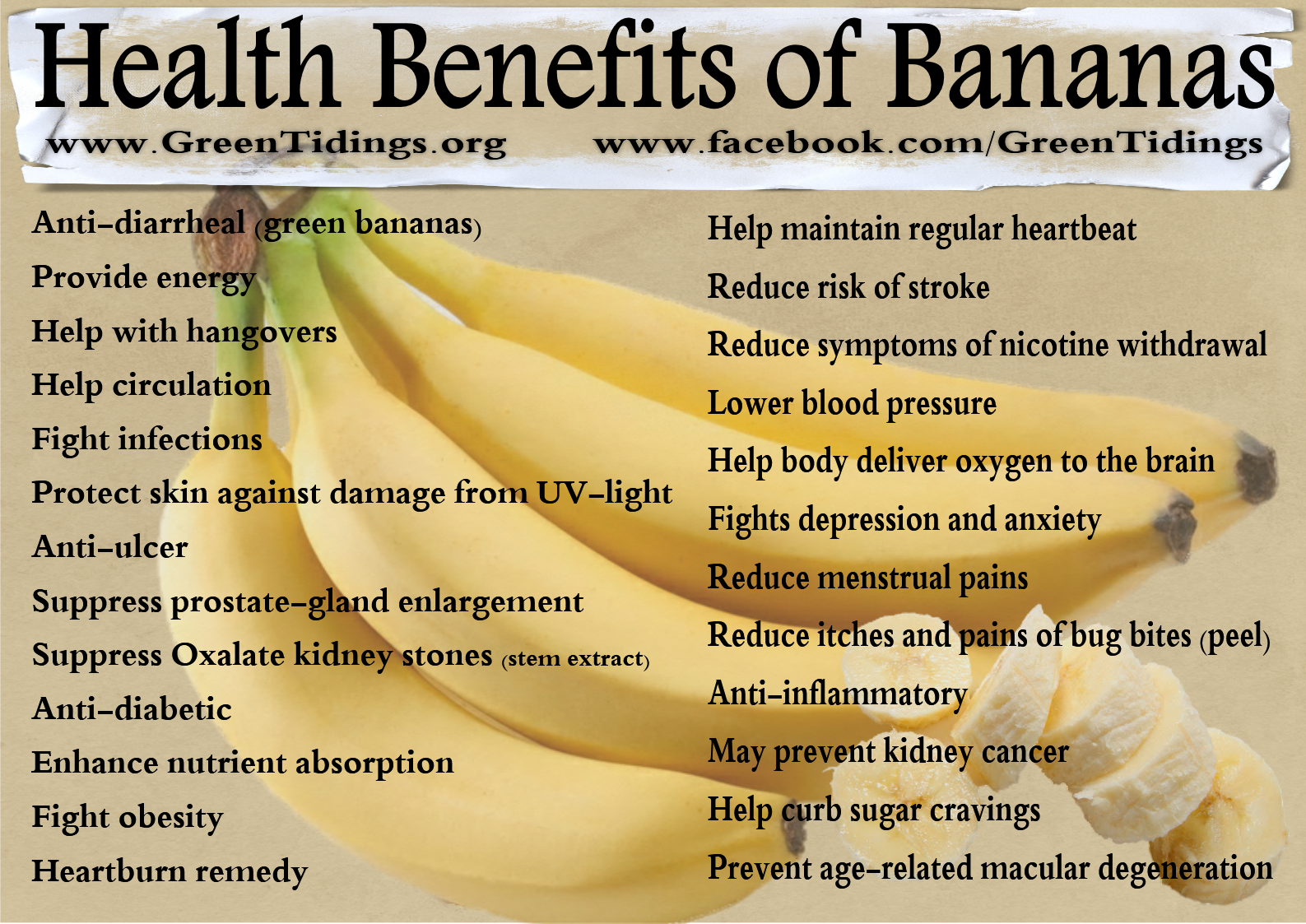 Banana health benefits nutritional facts