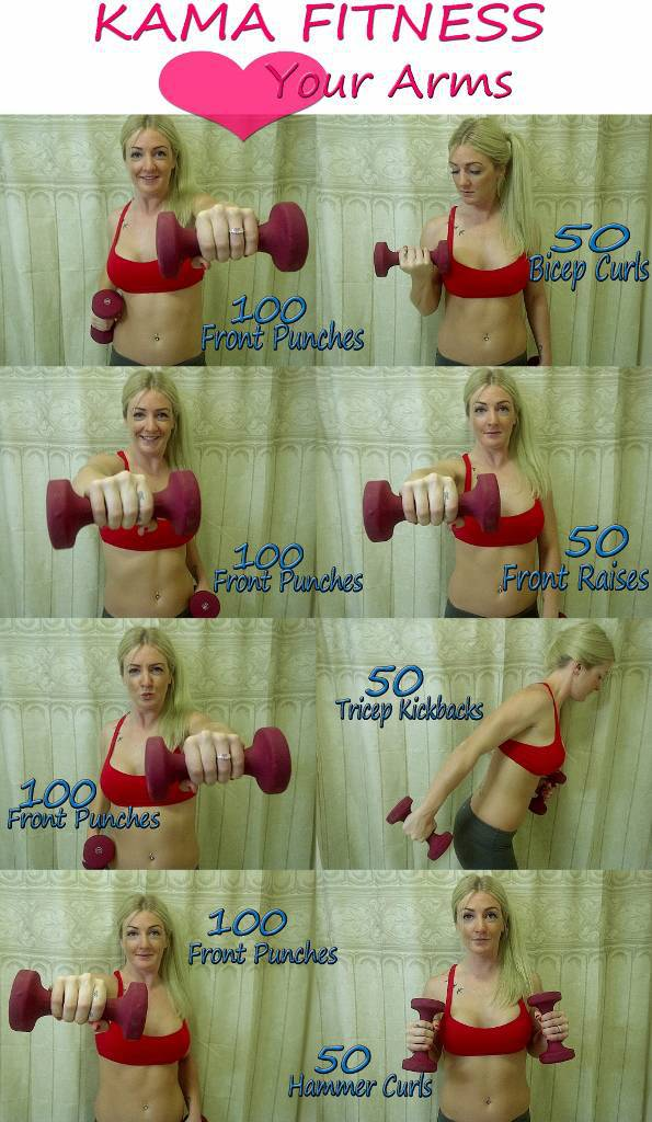 dumbbell arm exercises for women
