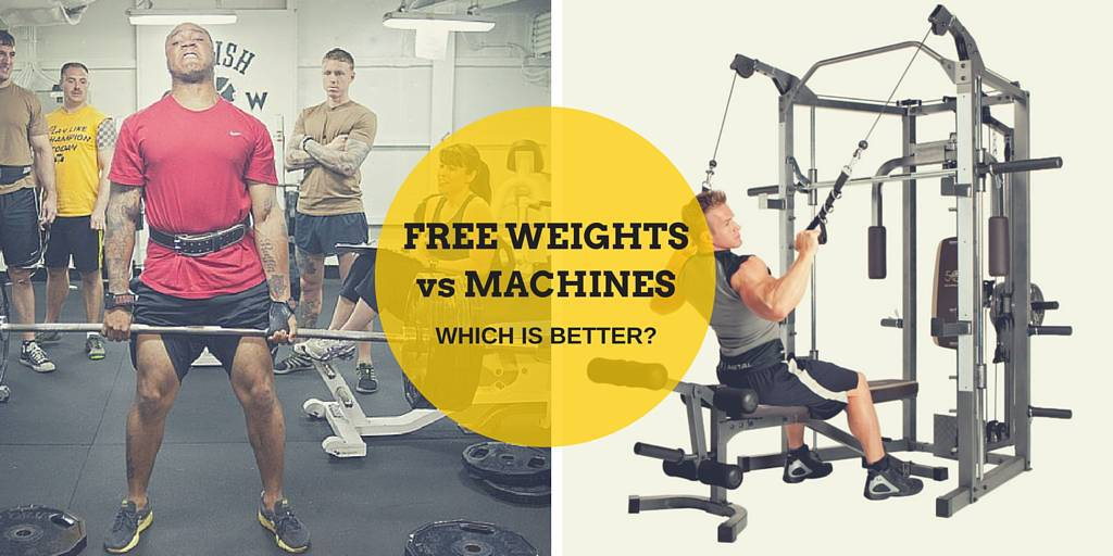 Image result for Free weights or machines, which is better?