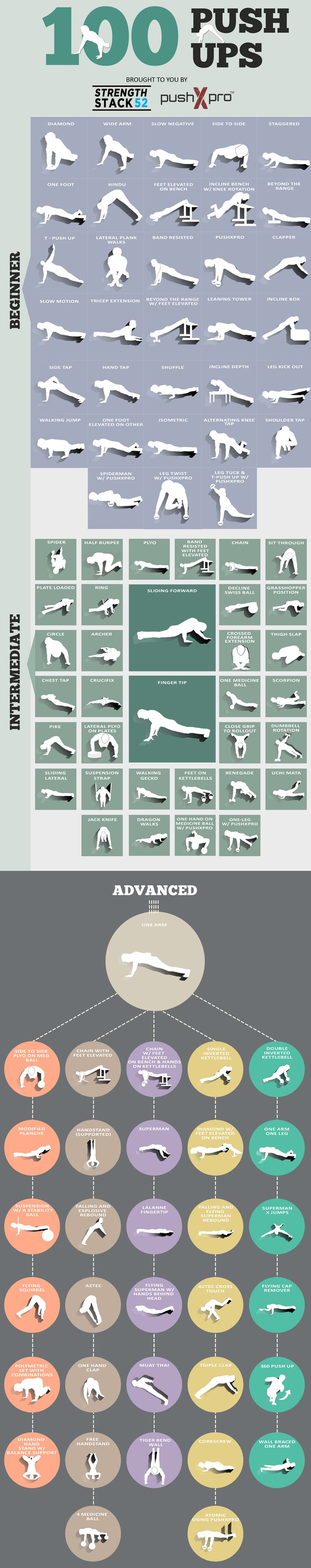 100 push up variations
