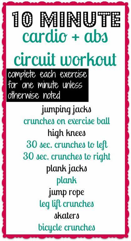 10 minute ab workout intense
