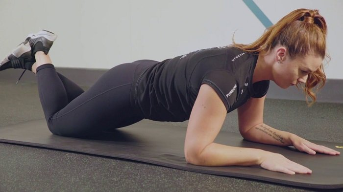 knee plank exercises for c-section