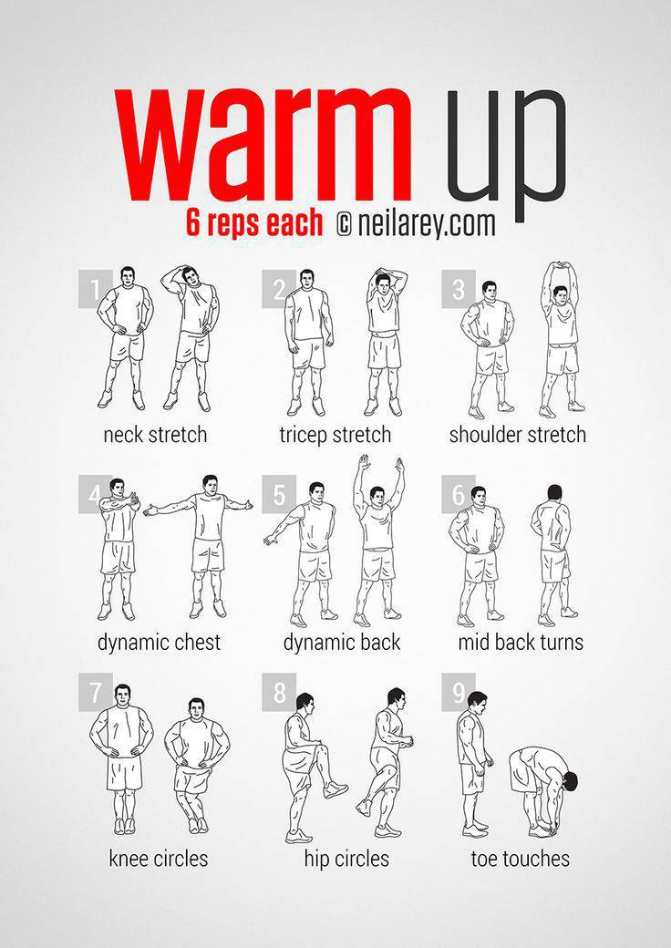 List Of Warm Up Exercises Credit Darebee Com