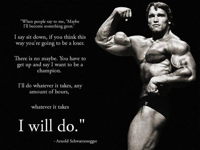 Arnold Schwarzenegger Motivational Poster