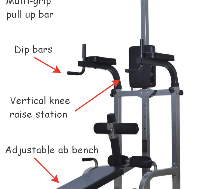 power tower with sit up bench