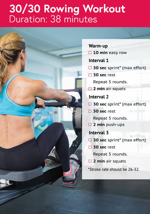 fat burning rowing workout
