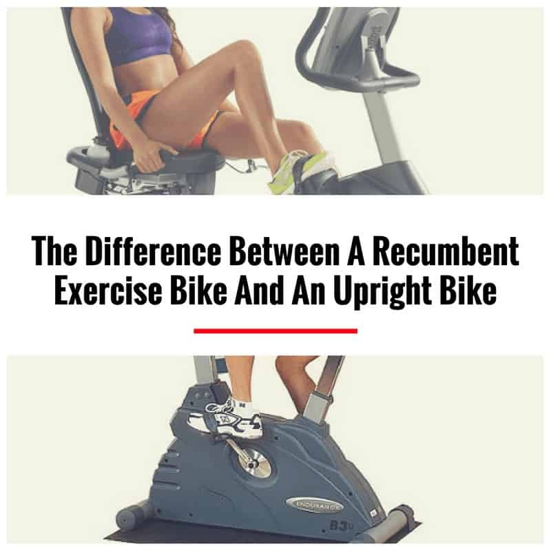 recumbent vs upright exercise bike