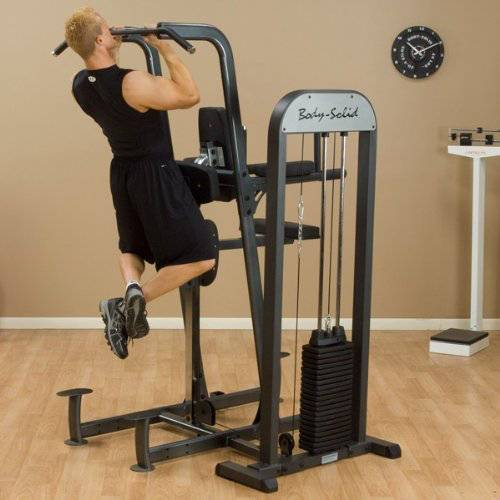 body solid weight-assisted dip and pull up machine