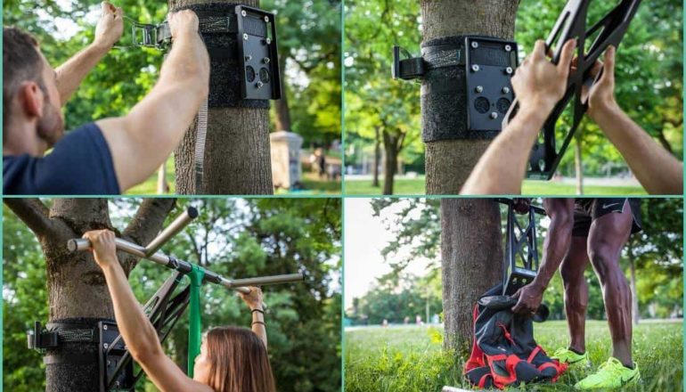 portable pull up and dip bar