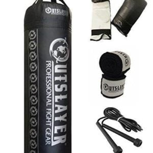 Punching Bag Kit with gloves wraps jump rope