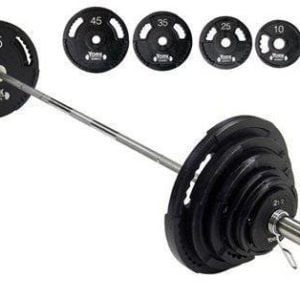 York Barbell 300 lb G-2 Dual Grip Bar
