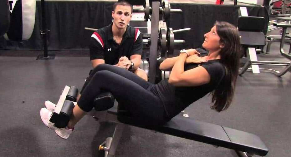 using sit up bench properly