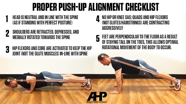 how to do proper press up