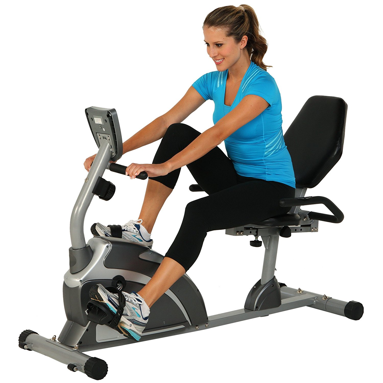 Extended Capacity Recumbent Bike with Pulse