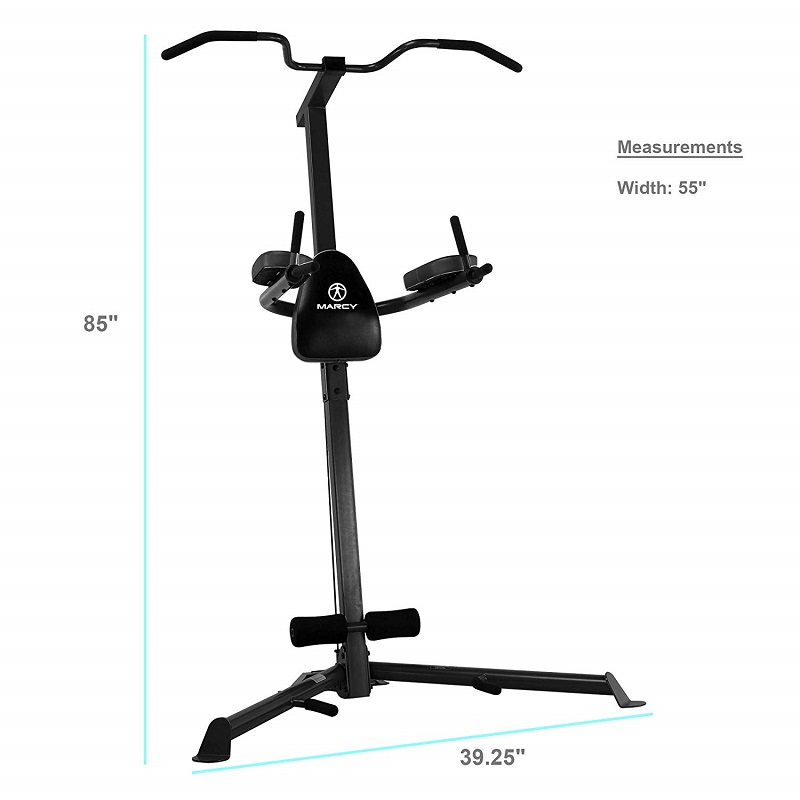 dimensions marcy pull up dip station