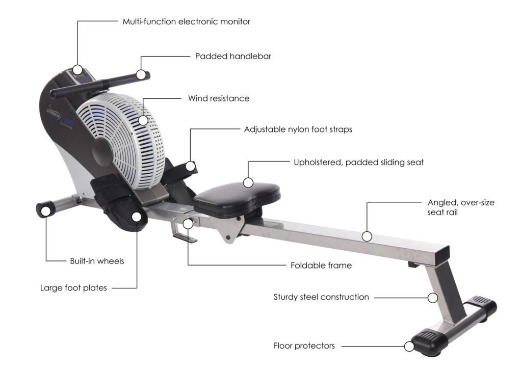 stamina ats 1399 air rowing machine