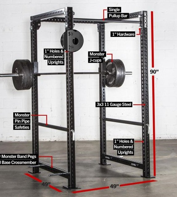fortis-4 rogue monster power rack