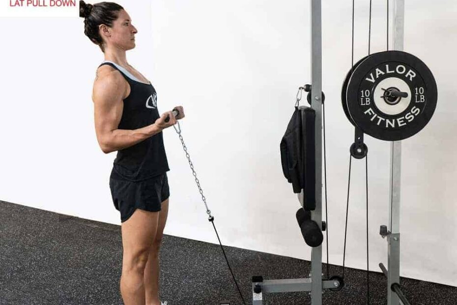 compact cable and lat pulldown machines