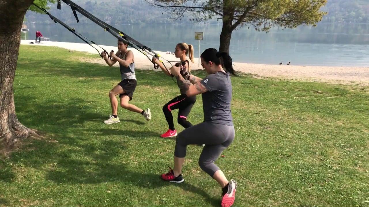 trx workout outdoors