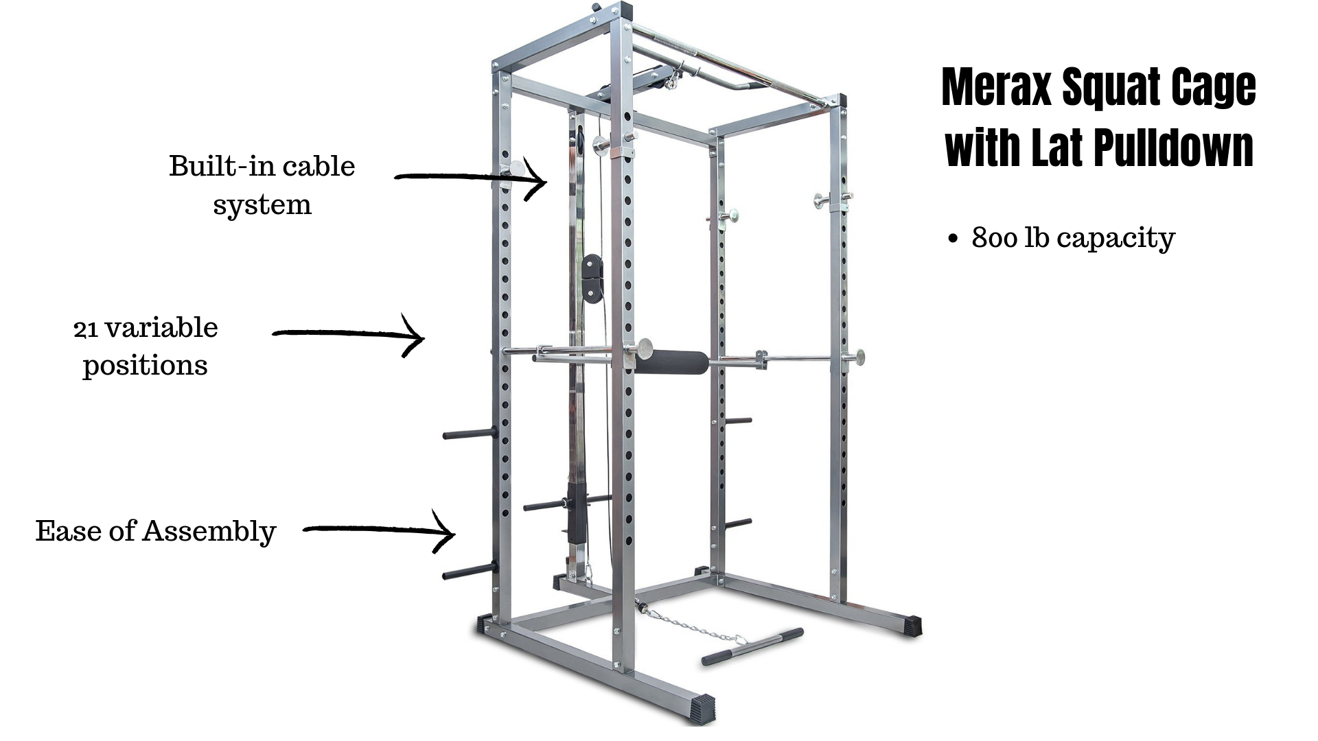 budget Merax Squat Cage with Lat Pulldown