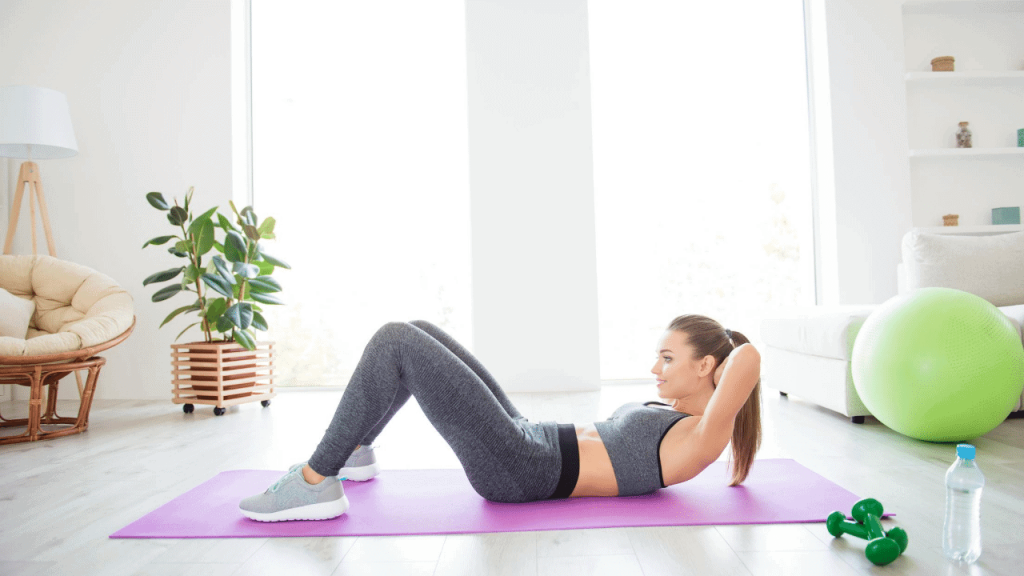 crunches belly fat