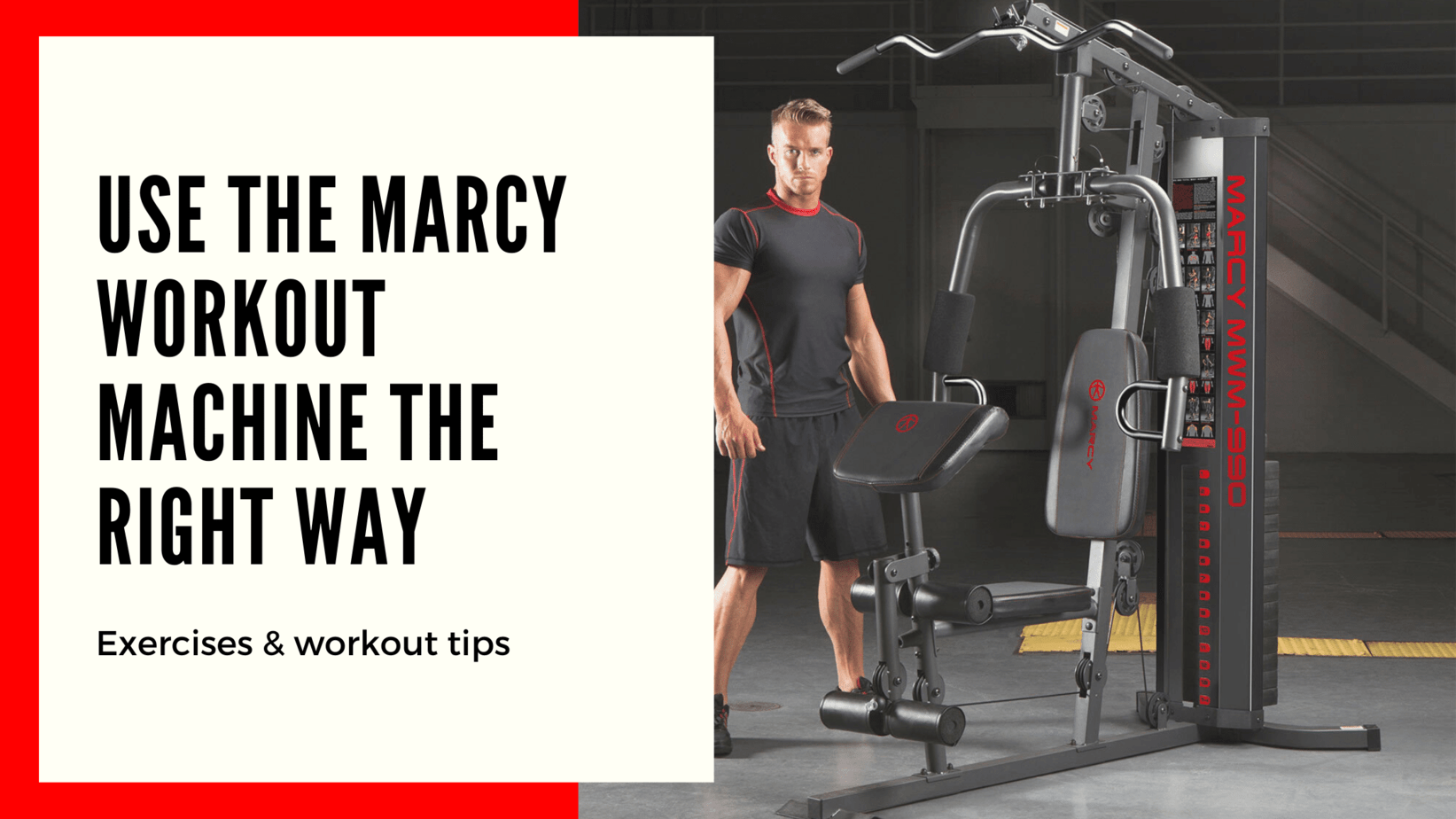 how to use marcy home gym