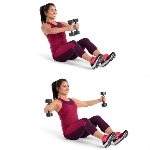 V-Sit With Chest Fly